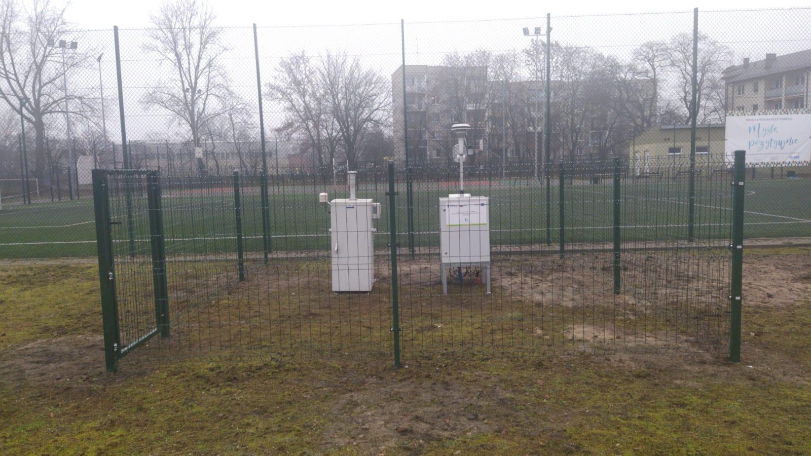 Stacja monitoringu powietrza w Nowej Soli przy ul. Tadeusza Kościuszki