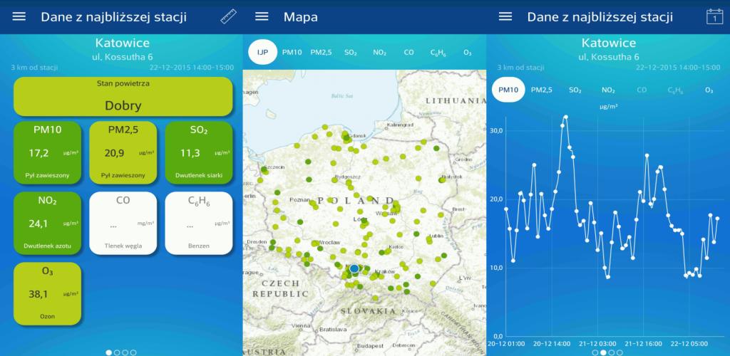 Mapa aplikacji połączenia